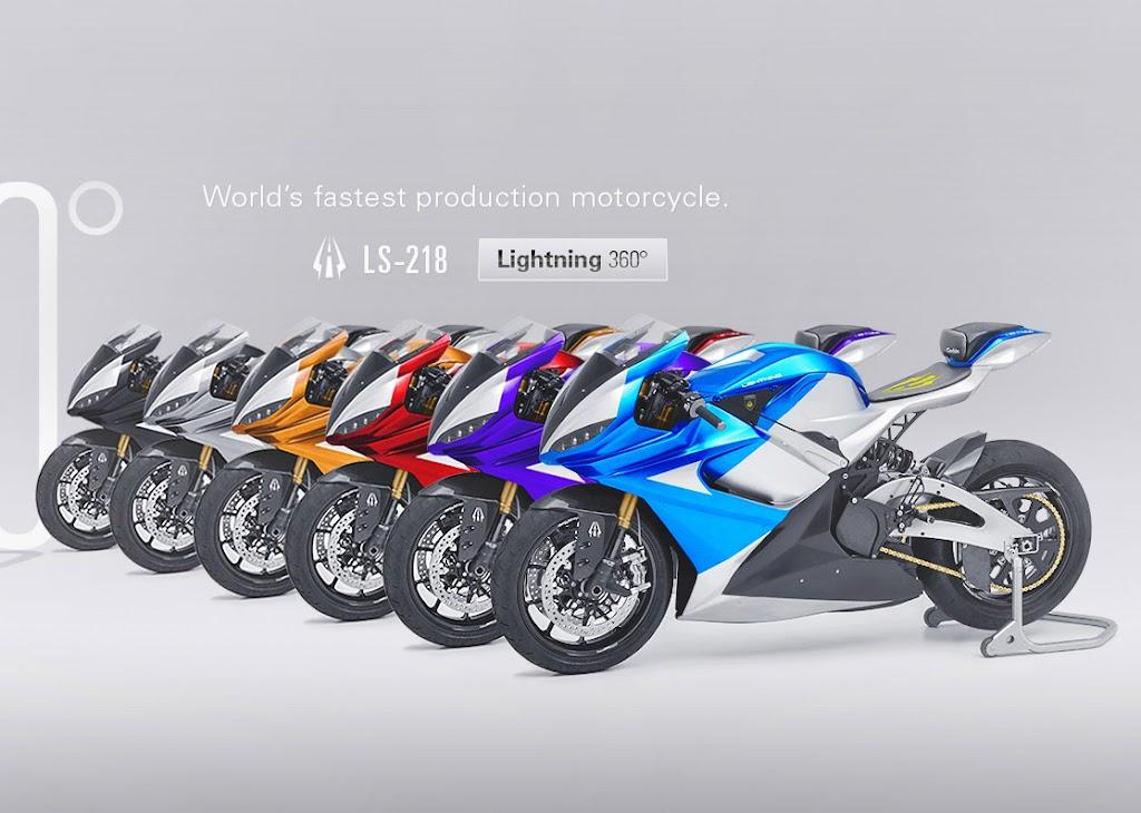 motos mais rápidas do mundo Lightning LS 218